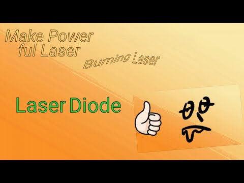 How to get powerful burning laser out of DVD drive.