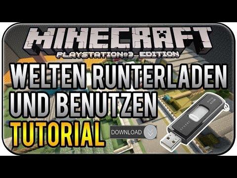Minecraft PS3 Edition - Welt downloaden und installieren Tutorial (einfach) [Deutsch|HD]