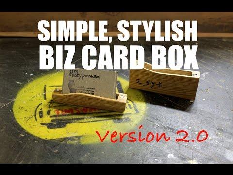 Reclaimed Wood Business Card Holder V2.0