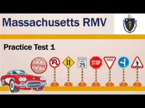 Driving license test Massachusetts RMV Practice Test 1