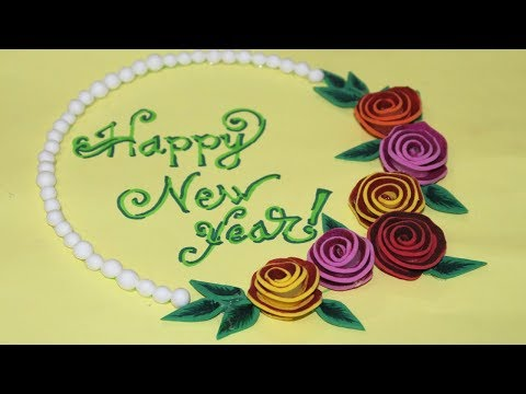 How To Make Happy New Year Greeting Card - Handmade Greeting Cards For Special Occasions