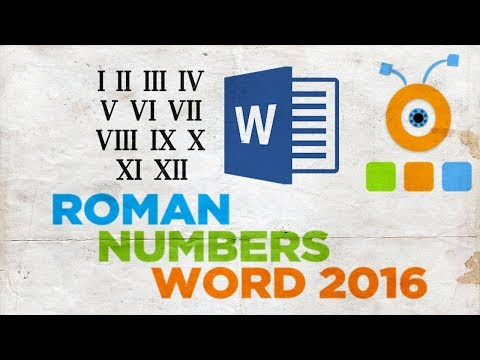 How to Print Roman Numbers in Word 2016 | How to Type Roman Numbers in Word 2016