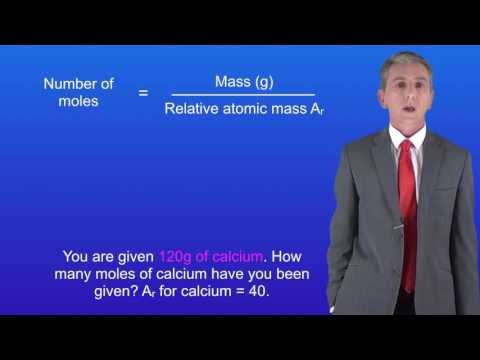 GCSE Science Chemistry (9-1) Calculating moles of an Element
