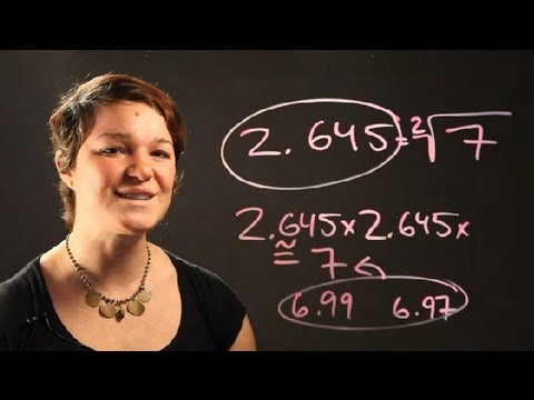 How to Convert a Decimal Into a Radical : Radical Numbers