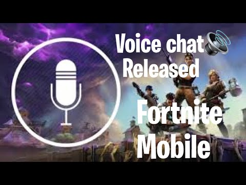 Fortnite mobile voice chat official release. How to enable and use it