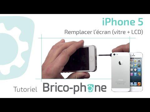 Tutoriel Iphone 5 changer écran vitre tactile  + LCD démontage et remontage
