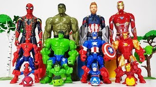 Avengers Smaller \u0026 Bigger Transformation, Go~! Hulk, Iron man, Spider Man