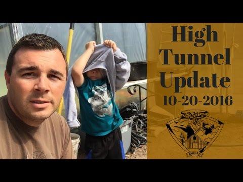 High Tunnel Update 10-21-16