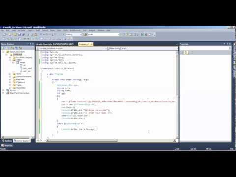 Creating Database In Console Application in C# net Tamil