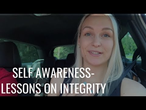 Self awareness-Lessons on Integrity