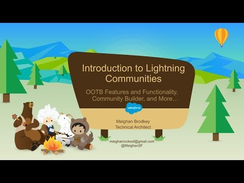 Lightning Communities Hands on Intro