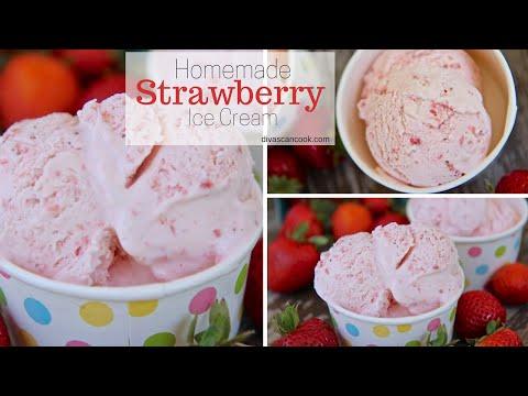 How to Make Homemade Strawberry Ice Cream