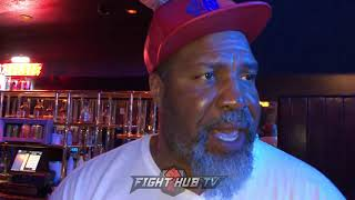 """SHANNON BRIGGS """"JACK GONNA WALK DOWN ADONIS & BEAT HIM. GO PAST 5 ROUNDS W/JACK YOUR ASS IN TROUBLE"""