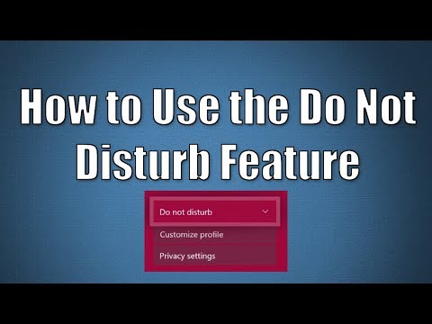 How to Use the Do Not Disturb Feature
