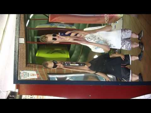 me and rich in fun house mirrors
