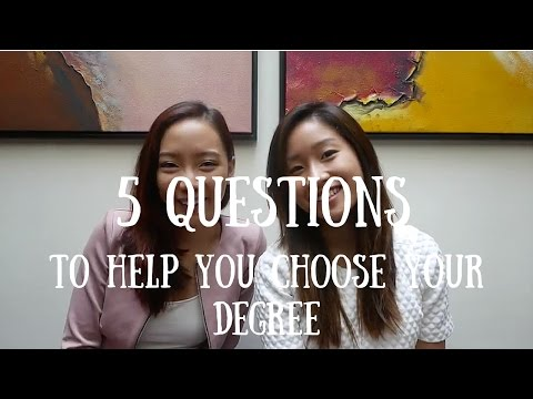 5 Questions to Help You Choose Your Degree