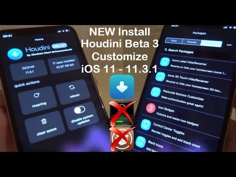NEW Install Houdini Beta 3 Customize iOS 11 - 11.3.1 NO Jailbreak NO Computer iPhone iPad iPod