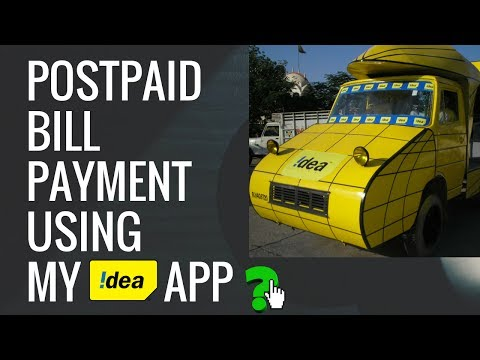 My Idea App: Pay your Postpaid Bill using My Idea Recharge and Payments - बिल पेमेंट करें कैसे?