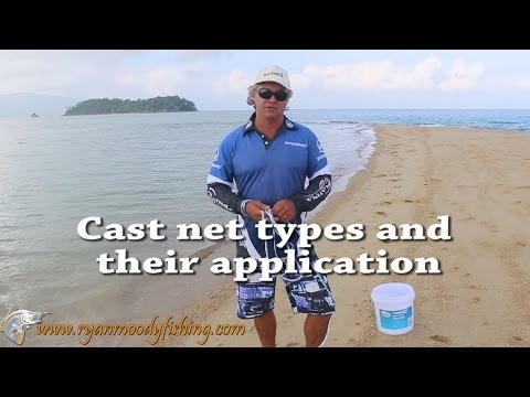Cast net types and applications for catching bait
