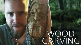 Wood Carving a Greater Tree Spirit