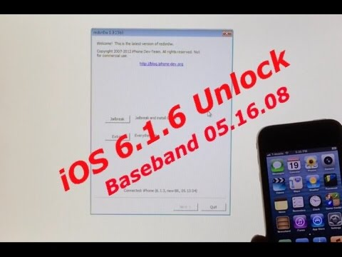 iPhone 3GS Untethered Jailbreak and Unlock for iOS 6.1.6 and 6.1.3 with Baseband 05.16.08