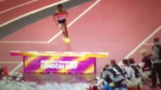 Beatrice Chepkoech epic fail 3000m Steeplechase Women IAAF World Champs London 2017