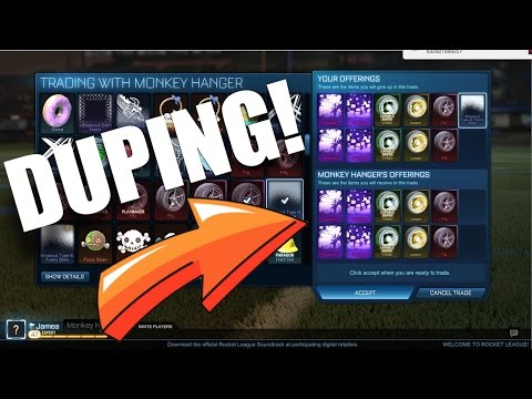 ROCKET LEAGUE DUPING AND CREATING GHOST ITEMS!