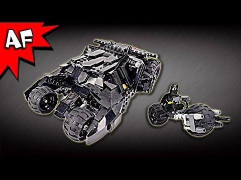 Custom Lego Batman Dark Knight TUMBLER with BATPOD 2.0 at BrickWow.com