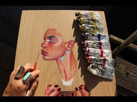 How to paint skin tone using OILS