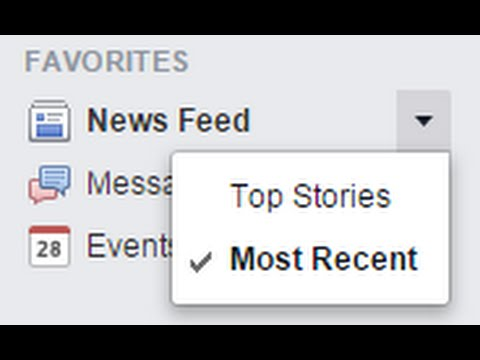 How to Make Your Facebook News Feed Default to