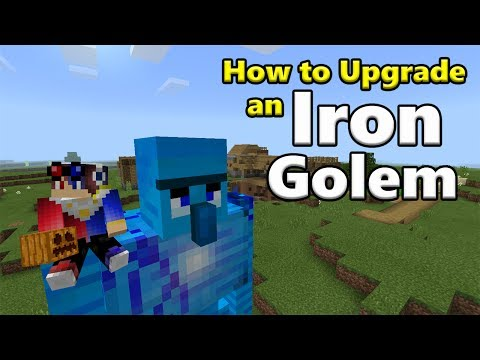 How to Upgrade an Iron Golem in Minecraft Pocket Edition (Alex's Guardian Addon)