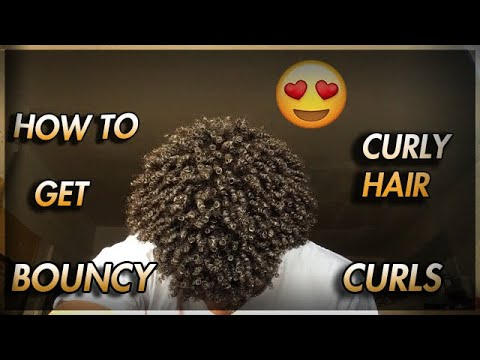 HOW TO: Get Natural Bouncy Curly Hair Black Men