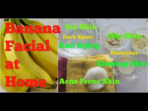 BANANA FACIAL for GLOWING SKIN at HOME IN HINDI, GET CLEAR, NO BLEMISHES NO DARK SPOTS YOUTHFUL SKIN
