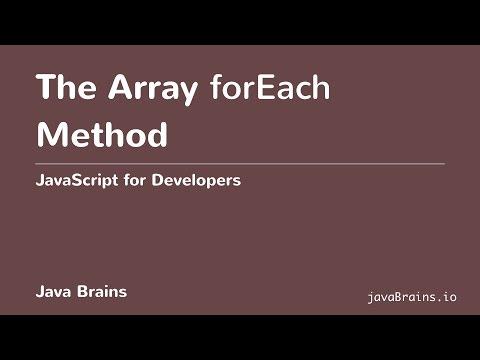 JavaScript for Developers 44 - Array for each Method