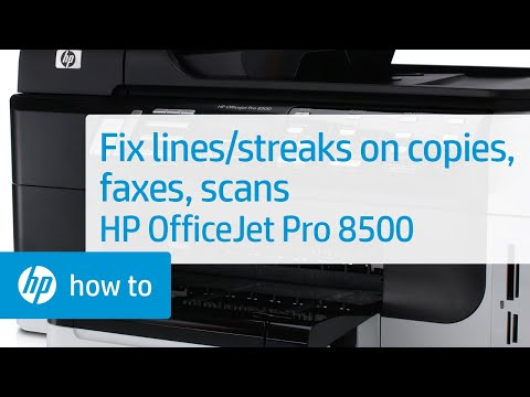 Resolve Lines or Streaks on Copies, Sent Faxes, or Scans - HP OfficeJet Pro 8500
