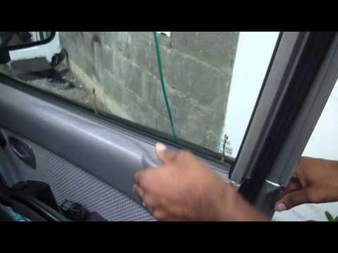 Unlock car door with coat hanger