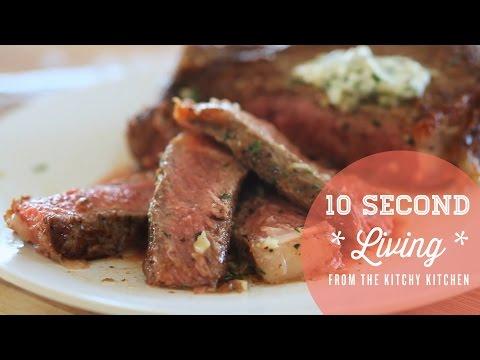 How to Cook a Medium Rare Steak// 10 Second Living