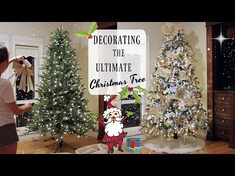 How to Create an EPIC Gold, White & Silver Christmas Tree!