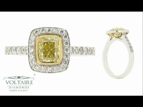 Yellow Diamond Engagement Ring - ER 1596
