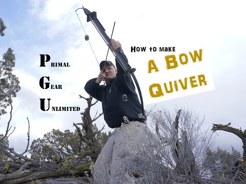 How to Make a Budget Bow Quiver, Primal Gear Unlimited Folding Survival Bow!!
