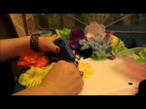 Hawaiian/ Beach flower hair clip DIY