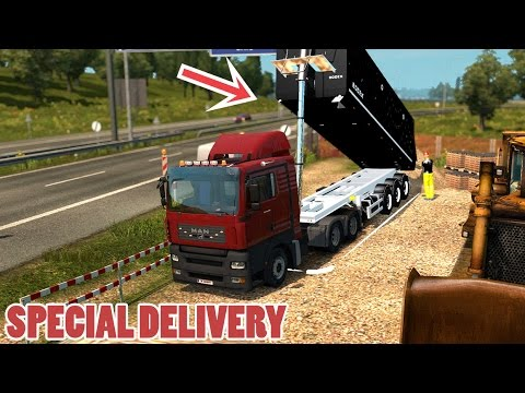 ETS2 SPECIAL DELIVERY: MAN TGA + Tipper Trailer mod (Euro Truck Simulator 2)