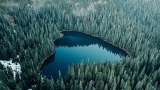 A lake in the middle of Washington State (Shot on Drone)