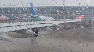 Download Pilotseye.tv - Swiss Airbus A340 - Rainy Departure from Shanghai [English Subtitles]