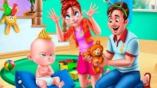 Крошка МАЛЫШ Как БОСС Играем в парке Ухаживаем за пупсиком  Мультик Игра Для Детей