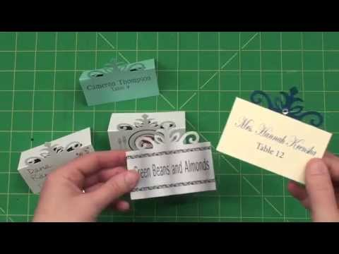 Create your own Elegant Place Cards