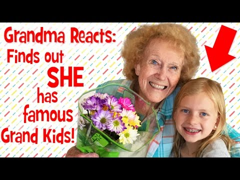 Grandma Reacts to Finding Out She has Famous Grandkids