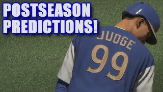 MY 2017 MLB POSTSEASON PREDICTIONS! | MLB The Show 17 | Wild Card Event