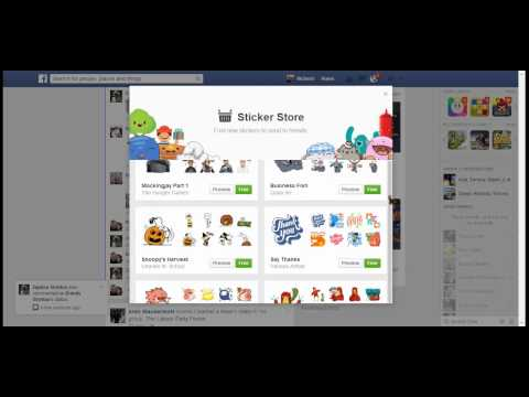 How to add stickers to facebook.