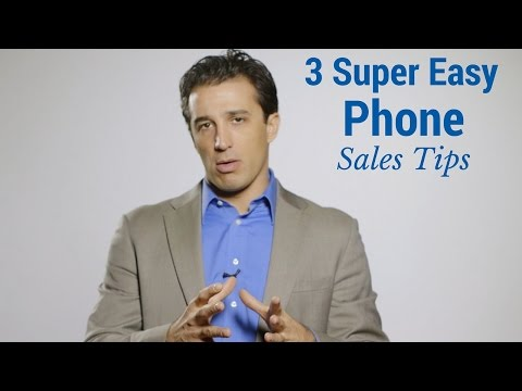 3 Super Easy Phone Sales Tips